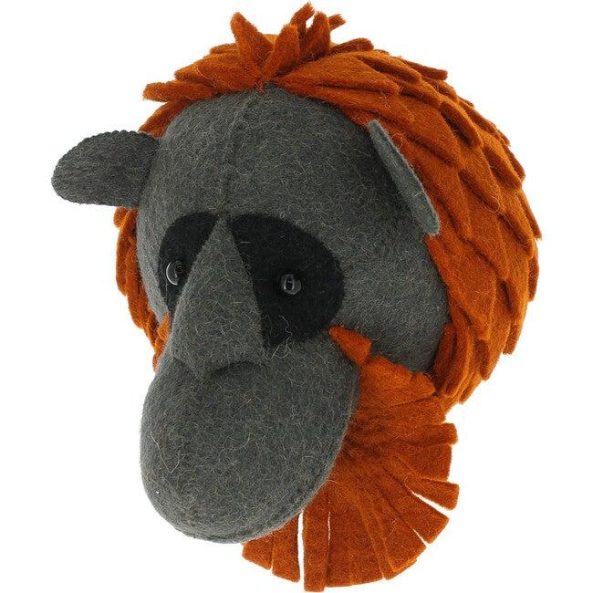 Mini Orangutan Head, Charcoal/Rust - Wall Décor - 1