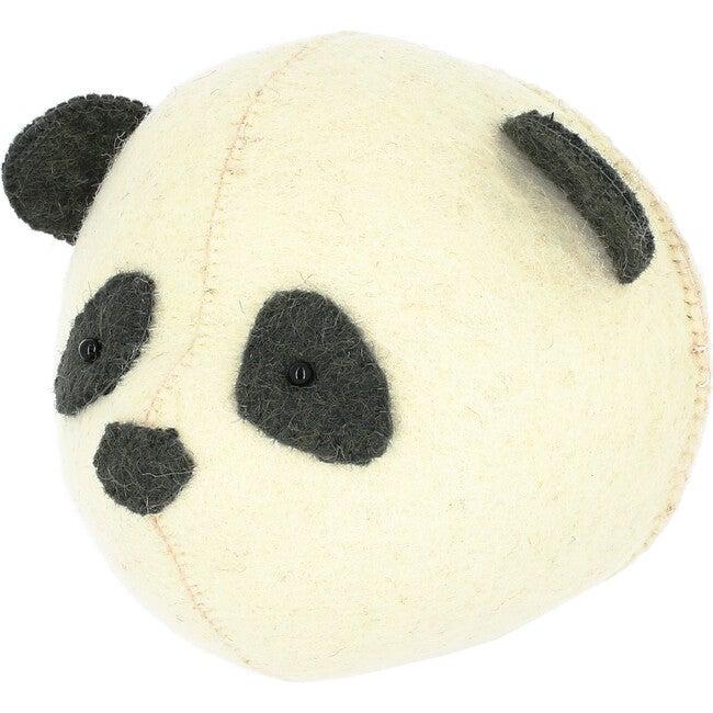 Mini Panda Head, Cream/Black - Wall Décor - 1