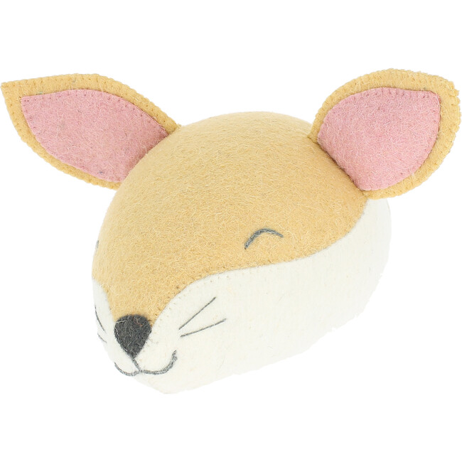 Sleepy Fox Head, Light Tan - Wall Décor - 1