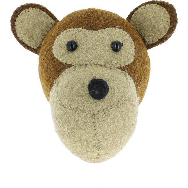 Mini Monkey Head, Brown - Wall Décor - 1