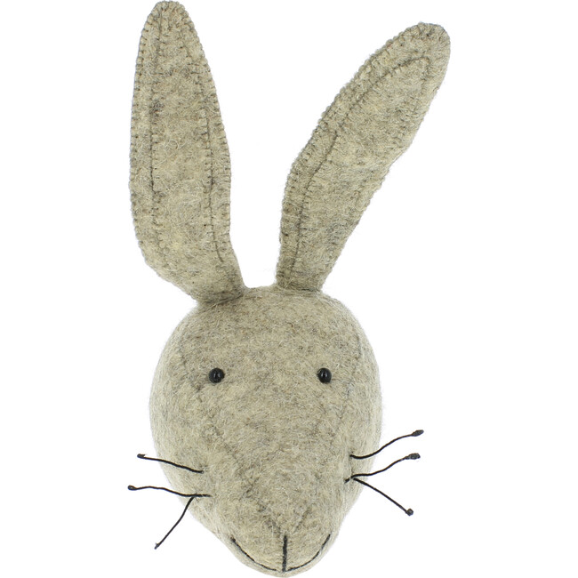 Mini Hare Head, Grey - Wall Décor - 1