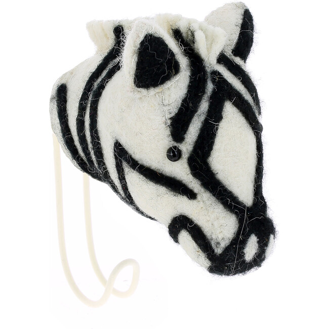 Zebra Hook, Black/Cream