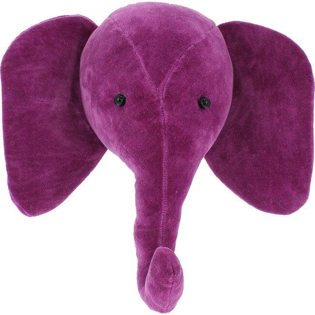 Mini Velvet Elephant Head, Pink - Rugs - 1