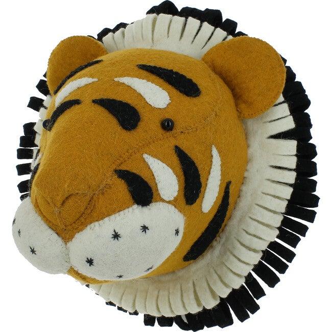 Double Ruff Tiger Head, Orange - Animal Heads - 1