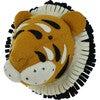 Double Ruff Tiger Head, Orange - Animal Heads - 1 - thumbnail