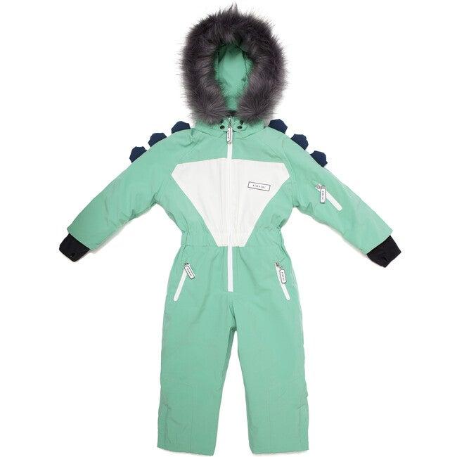 Spike the Dinosaur Ski Suit with Faux Fur trim