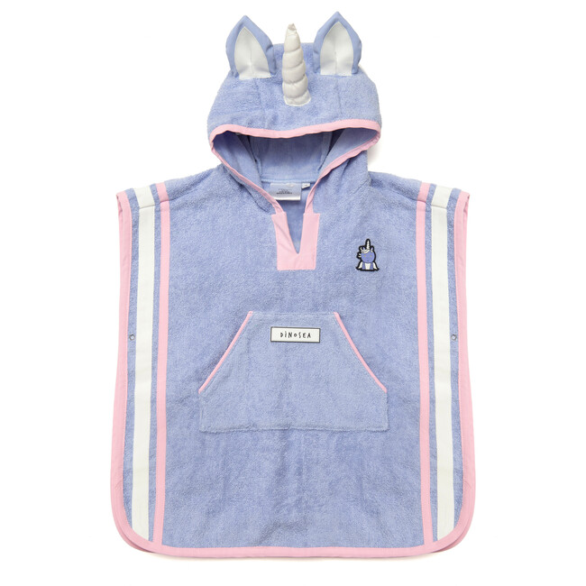 Girl's Sparkle Poncho Towel, Lilac - Cover-Ups - 1