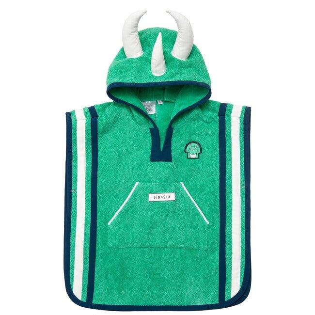 Kid's Spike Poncho Towel,Green