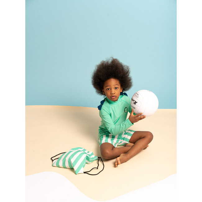 Kid's Spike Rash Guard, Green