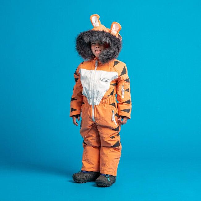Pounce the Tiger Ski Suit with Faux Fur trim