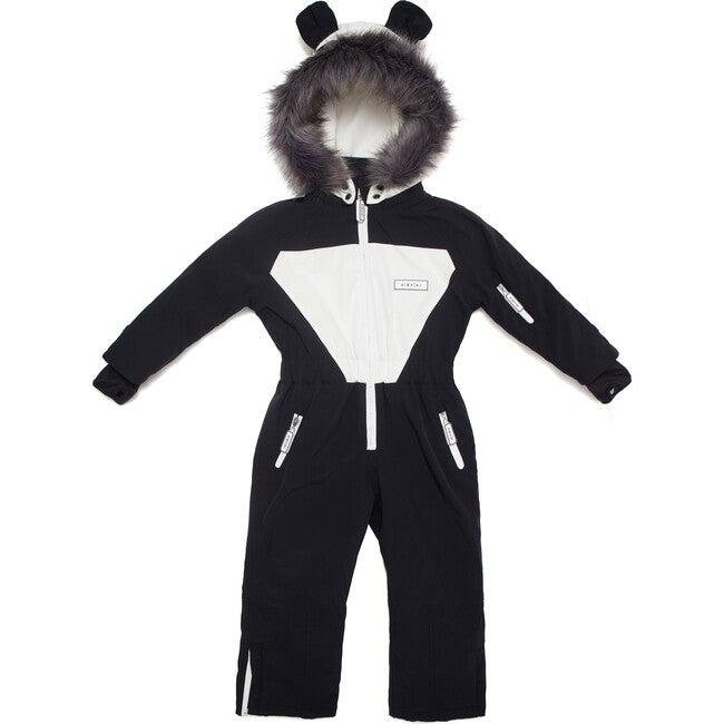 Patch the Panda Ski Suit with Faux Fur trim