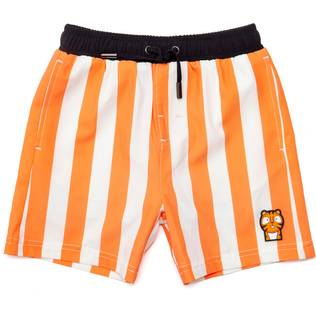 Boys Pounce Swim Trunks, Orange