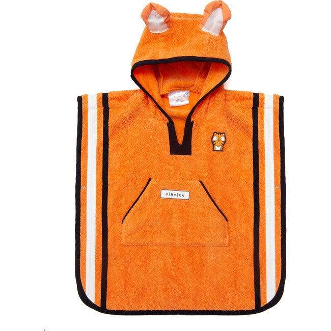 Kid's Pounce Poncho Towel,Orange - Cover-Ups - 1