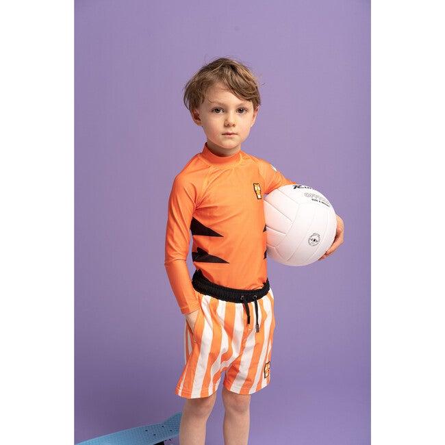 Kids Pounce Rash Guard,Orange
