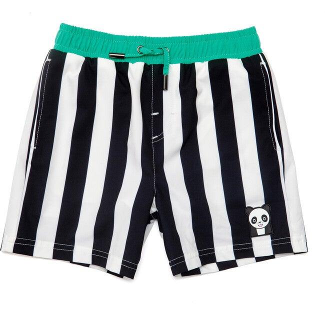 Boys Patch Swim Trunks, Black