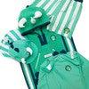 Kid's Spike Poncho Towel,Green - Cover-Ups - 6