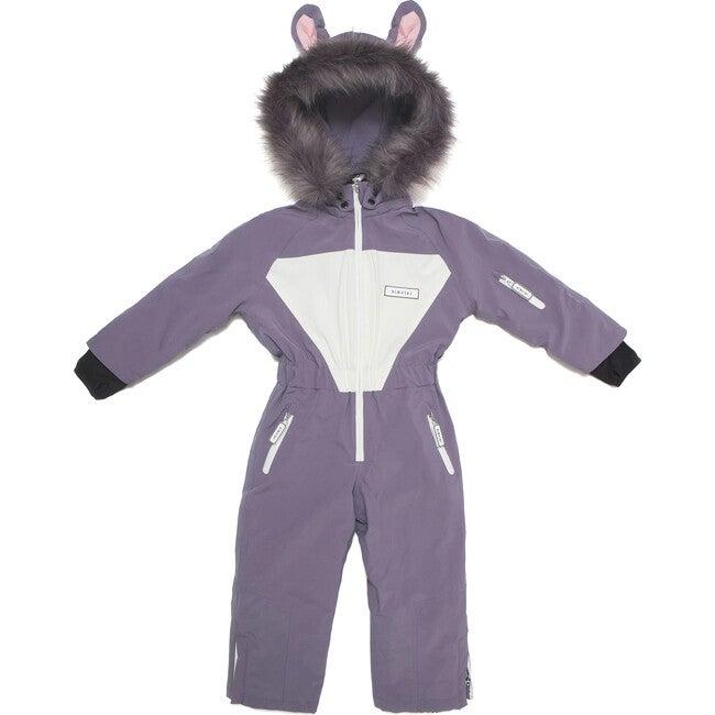 Hop the Bunny Ski Suit with Faux Fur trim