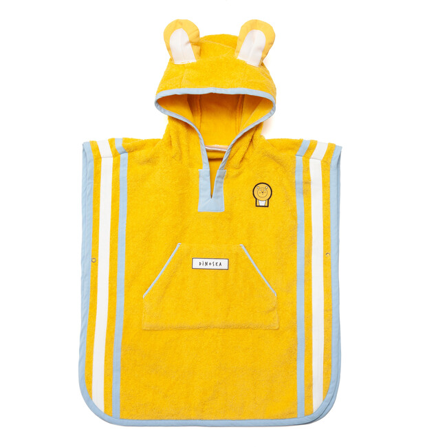 Kid's Cub Poncho Towel,Yellow - Cover-Ups - 1