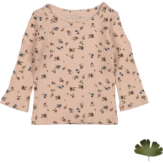 The Sea Rose Tee, Floral Blush