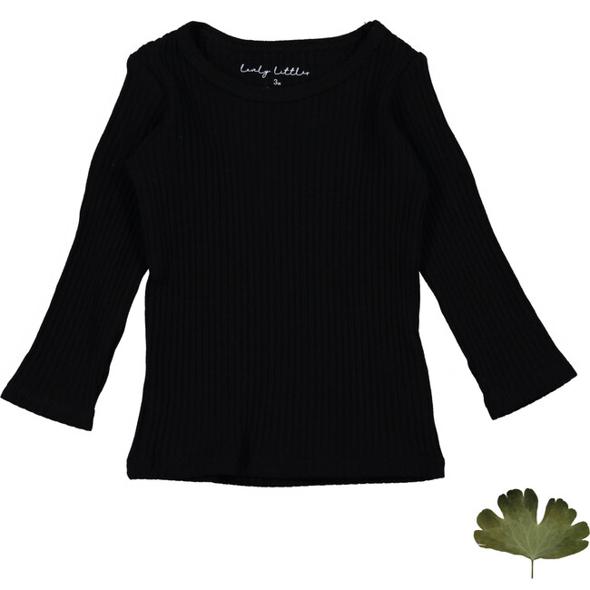 The Ribbed Tee, Black