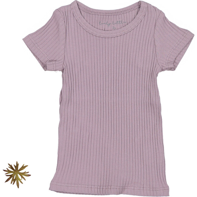 The Ribbed Short Sleeve Tee, Violet
