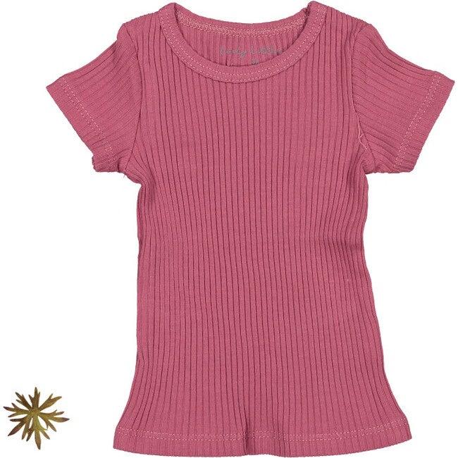 The Ribbed Short Sleeve Tee, Raspberry