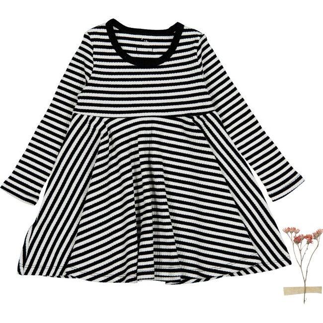 The Ribbed Long Sleeve Dress, Stripe