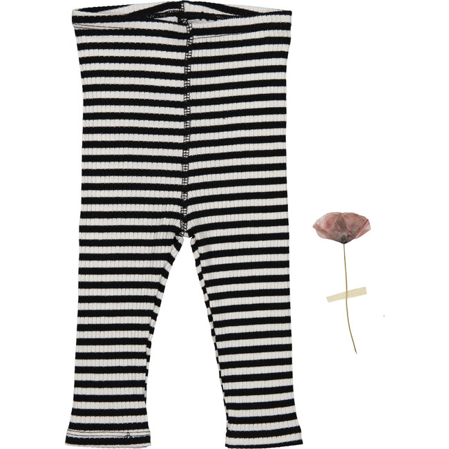 The Ribbed Leggings, Stripe