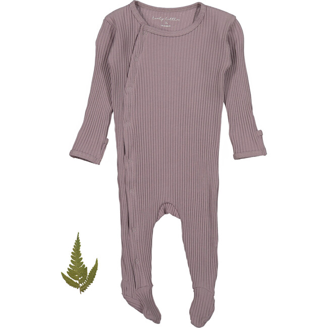 The Ribbed Snap Romper, Violet