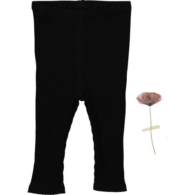 The Ribbed Leggings, Black - Leggings - 1
