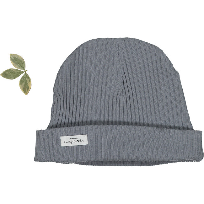 The Ribbed Hat, Slate - Hats - 1