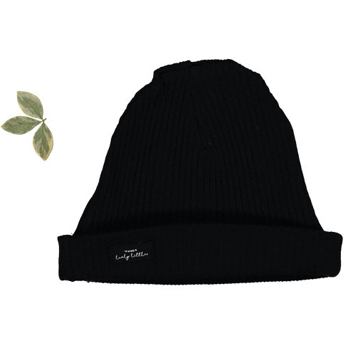 The Ribbed Hat, Black