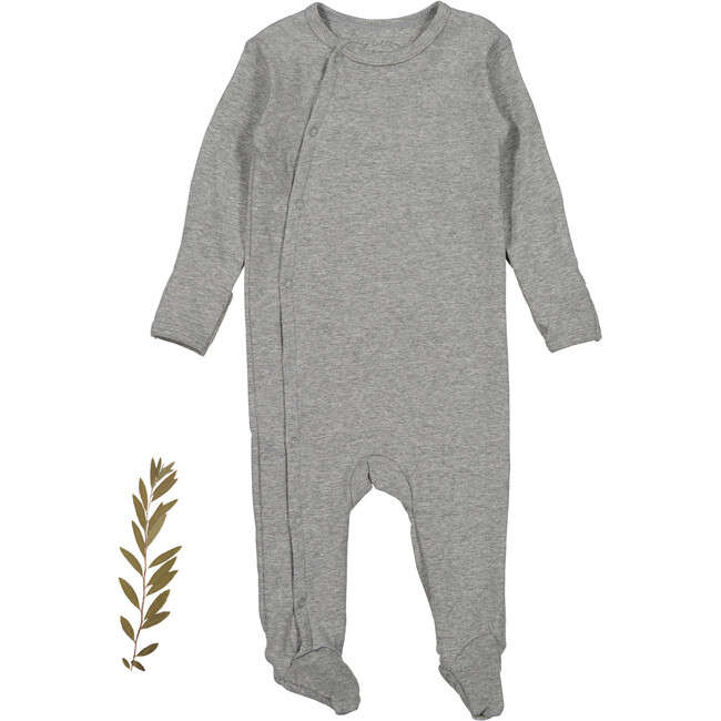 The Cotton Snap Romper, Heather Grey