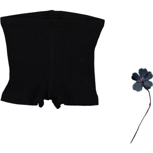 The Ribbed Short, Black