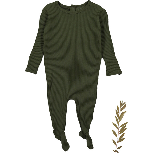 The Ribbed Romper, Moss