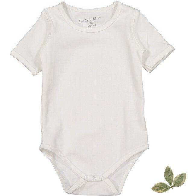 The Cotton Short Sleeve Onesie, White