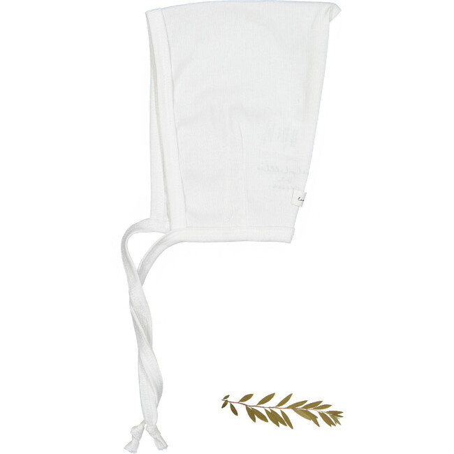 The Cotton Pixie Bonnet, White