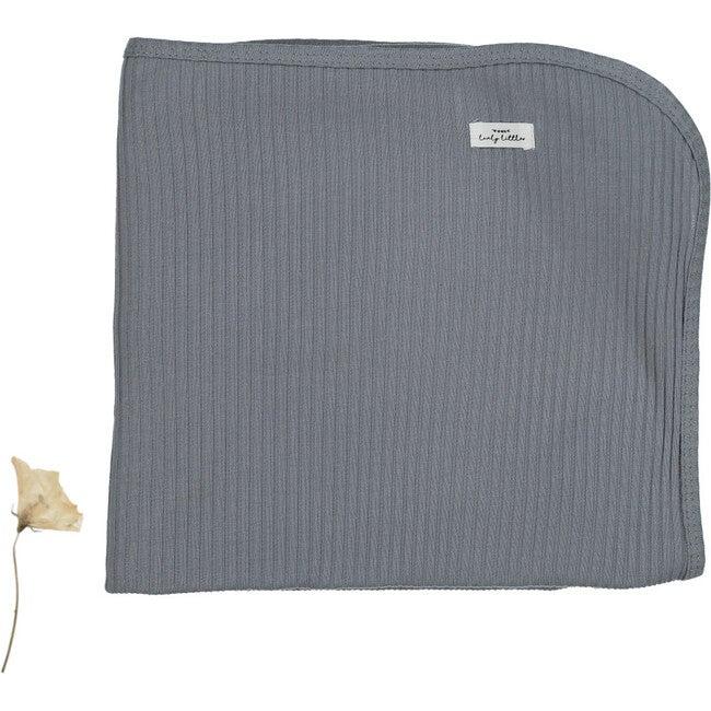 The Ribbed Blanket, Slate - Blankets - 1
