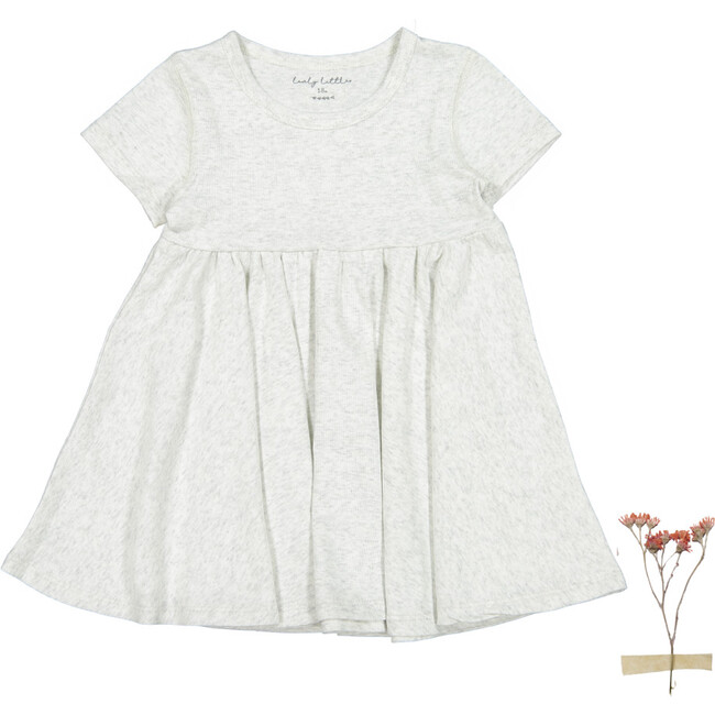The Cotton Short Sleeve Dress, Oatmeal