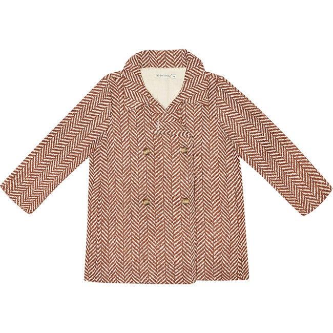 Ronie Coat, Toffe Herringbone - Wool Coats - 1