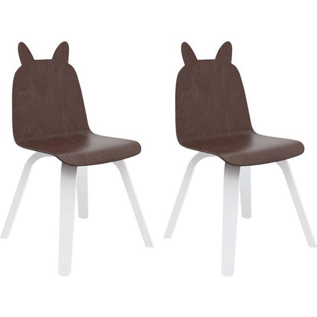 Set of 2 Rabbit Play Chairs, Walnut