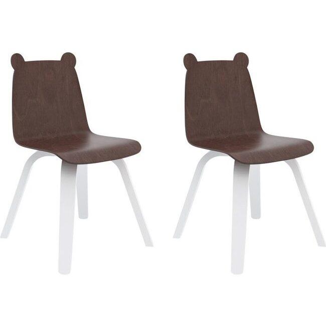 Set of 2 Bear Play Chairs, Walnut