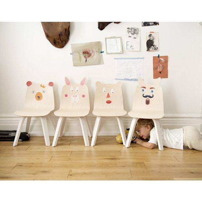 Set of 2 Bear Play Chairs, Birch