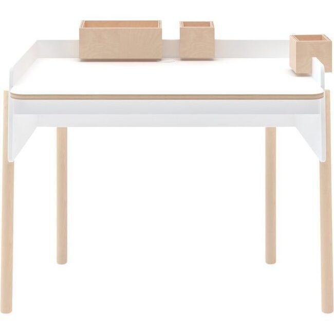 Brooklyn Desk, White/ Birch
