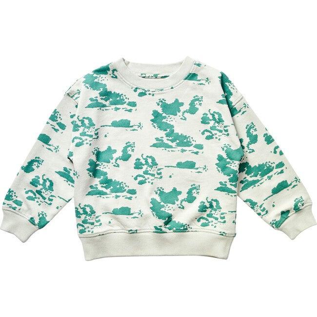 Clouds Sweatshirt, Sea Glass