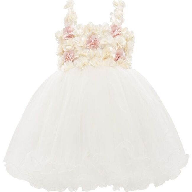 Rose Campanula Dress, White