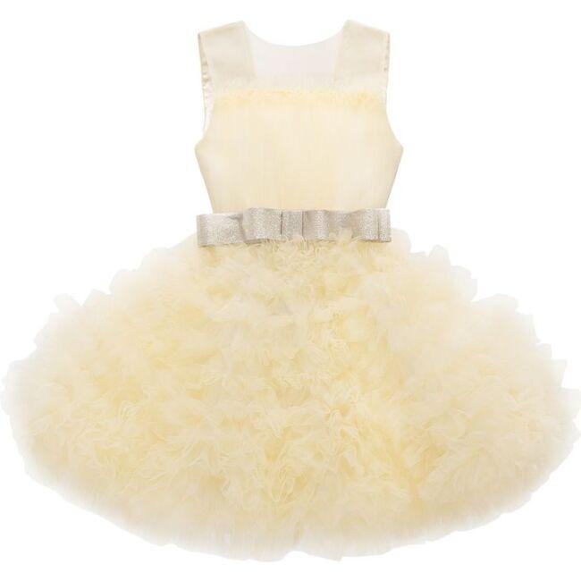 Powder Azalea Dress, Yellow