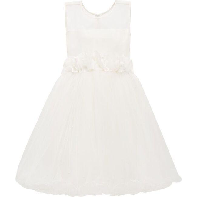 Floral Decatur Dress, White