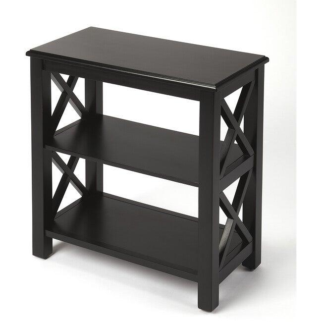 Vance Crossed Bookcase, Black