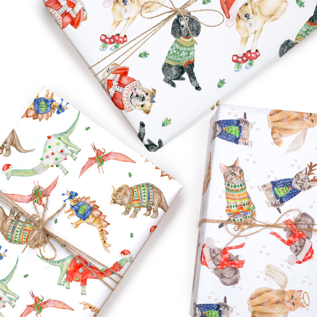 Festive Creatures Wrapping Paper Trio